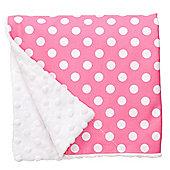 Baby Elephant Ears Luxury Pram Blanket Pink Spot
