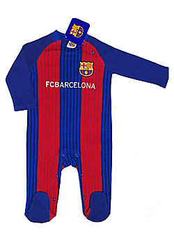 FC Barcelona Baby Kit Sleepsuit - 2016/17 Season - Red & Blue