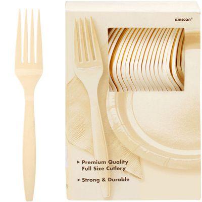 Ivory Plastic forks - 100 Pack