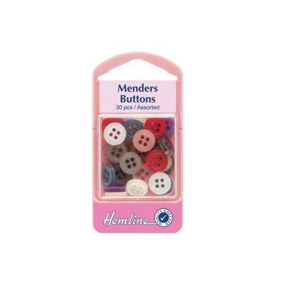 Hemline Mender Buttons Assorted 30 Pack