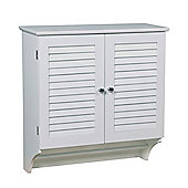 Wall Mounted Bathroom Cabinet With Towel Bar-White