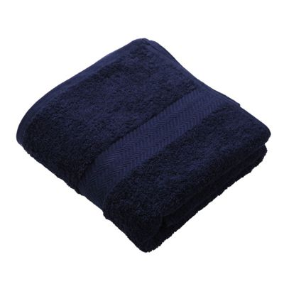 Homescapes Navy Luxury Bath Towel 500 GSM 100% Egyptian Cotton, 70 x 130 cm