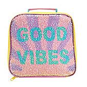 Polar Gear Good Vibes Sequin Lunch Bag