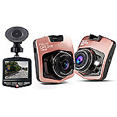 """Aquarius Full HD Car Camera with 2.4"""" LCD Screen & 120° high-resolution wide-angle lens - Rose Gold - R161191"""