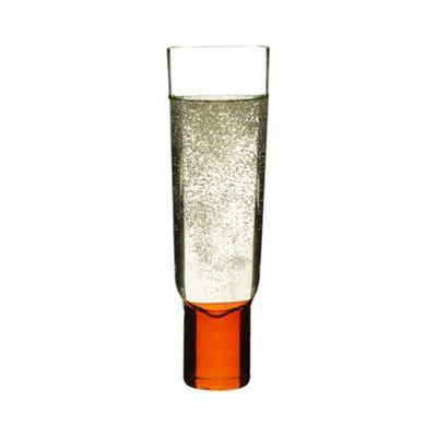 Sagaform Club Champagne Glass (Set of 2) in Orange / Blue