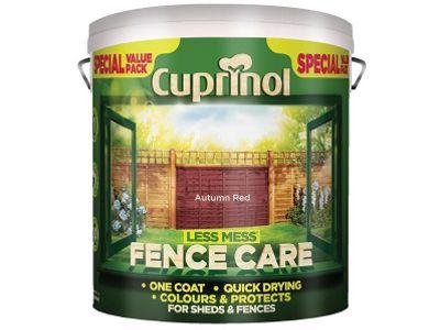 Cuprinol Less Mess Fence Care Autumn Red 6 Litre CUPLMFCAR6L