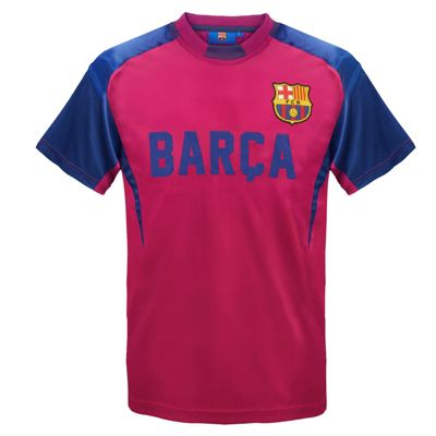 FC Barcelona Boys Poly T-Shirt Red 6-7 Years SB