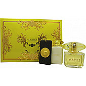 Versace Yellow Diamond Gift Set 90ml EDT + 100ml Body Lotion + Bag Tag For Women