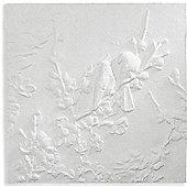 Blossom & Birds White 60cm x 60cm