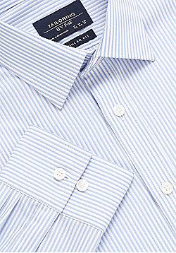 F&F Vertical Stripe Regular Fit Shirt - Blue