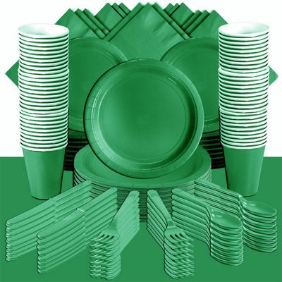 Festive Green Deluxe Party Pack for 100