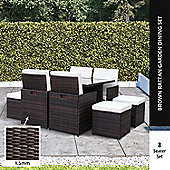BillyOh Modica 8 Seater Cube Outdoor Rattan Dining Set