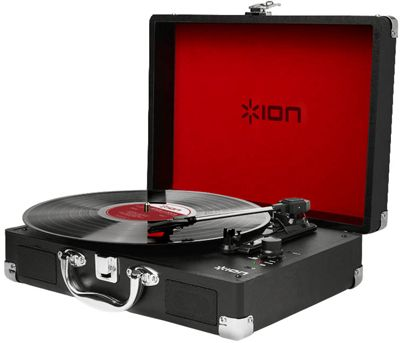 ION Vinyl Motion Rechargeable Portable Turntable with Case