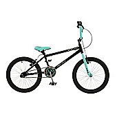 "Zombie Outbreak 20"" Wheel Junior Freestyle BMX Bike with Stunt Pegs Black/Green"