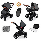 Ickle Bubba Stomp V3 AIO Travel System - Graphite Grey (Black Chassis)