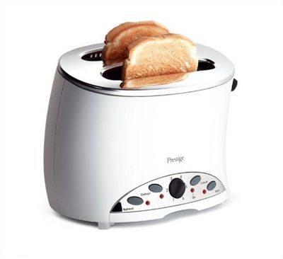 Prestige Symmetry 2 Slice Toaster - White & Black