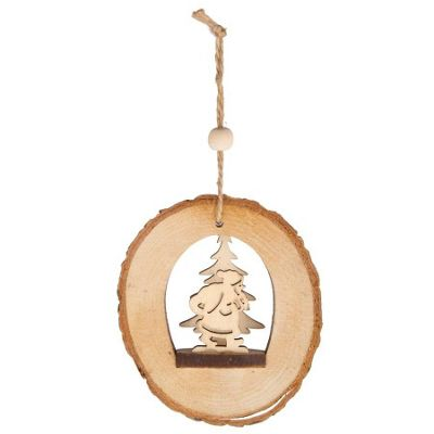 Santa Log Christmas Tree Decoration