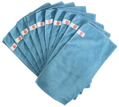 Harbour Housewares Microfibre Cloths - Pack of 10 - Large 40 x 40cm - Blue