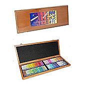 Oil Pastel Wooden Box Set - 72 Assorted Colours
