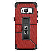 UAG Feather-Light Composite, Military Drop Tested, Rugged Metropolis Wallet Phone Case - Samsung Galaxy S8 Plus - Magma / Red