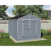 Palram Skylight Grey Plastic Shed, 8x12ft