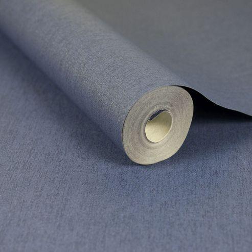 Superfresco Easy Paste The Wall Calico Indigo Textured Plain Wallpaper