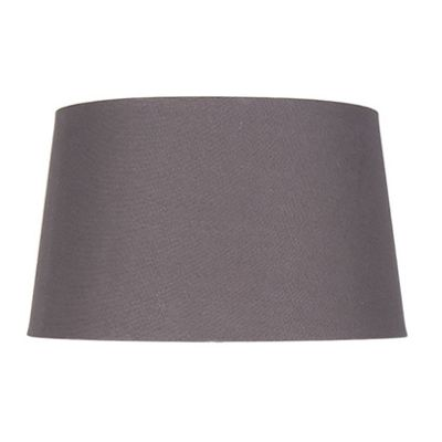 25cm Grey Handloom Lamp Shade Tapered Cylinder Shape