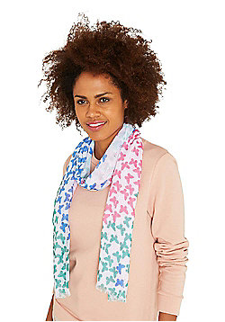 F&F Sequinned Butterfly Print Scarf - Multi