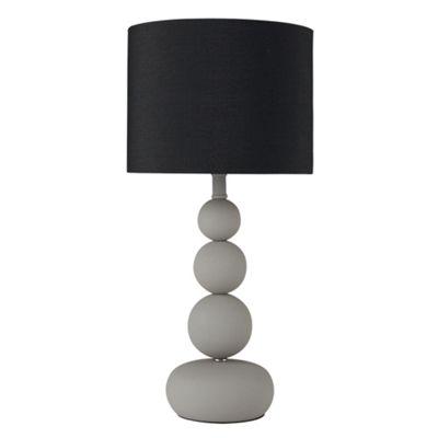 MiniSun Marissa Cement Effect Touch Table Lamp - Black