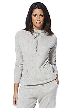 F&F Drawstring Neck Cashmere Jumper - Grey