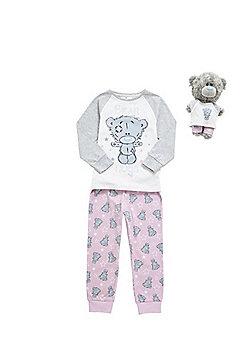 Me to You Bear Hugs Pyjama Set with Dinky Bear Outfit - Pink