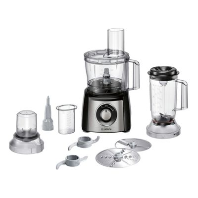 Bosch MCM3501MGB Food Processor with 800w Motor & Attachments in Stainless Steel