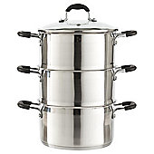 Stainless Steel 3 Tier Induction Steamer