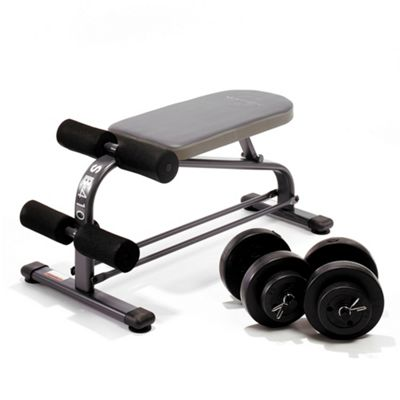 Marcy SB410 Flat & Ab Bench with 18kg Dumbbell Set