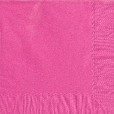 Hot Pink Napkins - Paper Dinner Napkins - 20 Pack