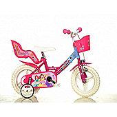 Disney Princess 12inch Balance Bike Pink - DINO Bikes