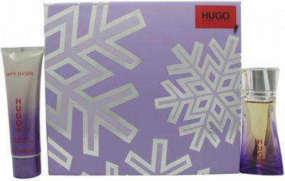 Hugo Boss Pure Purple Gift Set 30ml EDP + 50ml Body Lotion For Women