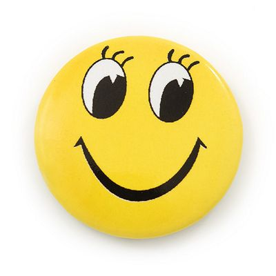 Happy Looking Smiling Face Lapel Pin Button Badge - 3cm Diameter