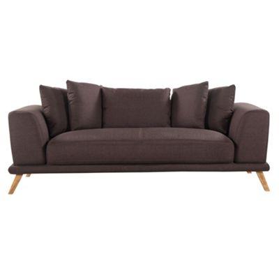 Sofa Collection Phoenix Textured Fabric 3 Seat Sofa - Chocolate