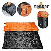Envelope Double Sleeping Bag - Convert into 2 Singles Orange /Black - Size