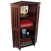 Mission - Corner Cd Dvd Blu-ray Media Storage Shelf Unit - Dark