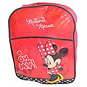 Disney Minnie Mouse 'Oh My' Padded PVC Front Backpack