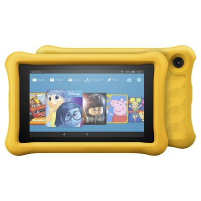 Amazon Fire 7 Kids Edition Tablet 7 inch 16GB with Wi-Fi - Yellow Protective Case