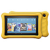 Fire 7 Kids Edition Tablet, 7 inch Display, 16 GB, Yellow Kid-Proof Case