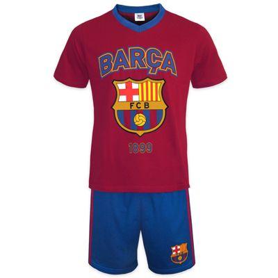 FC Barcelona Mens Short Pyjamas Red Blue Small