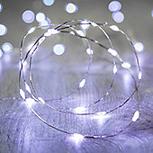 20 Micro White LED Battery Fairy Lights