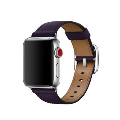 Apple MQV12ZM/A Band Aubergine Leather 38mm Dark Classic Buckle