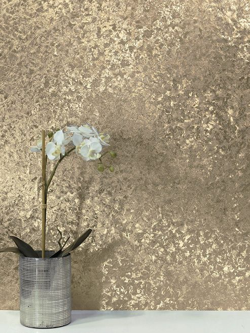 Crushed Velvet Foil Wallpaper Champagne Arthouse 294304