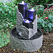 Bermuda - Three Towers Stone Effect Water Feature - Granite Effect
