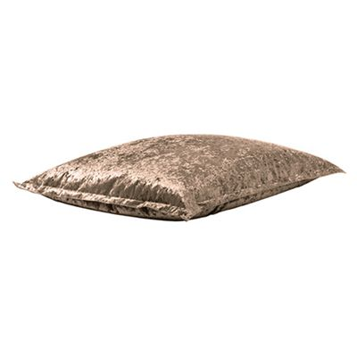 Ambre Crushed Velvet Indoor Beanbag Slab in Chocolate
